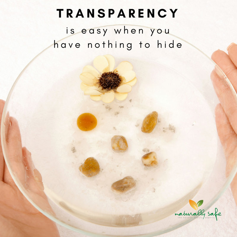 Transparency in cosmetics